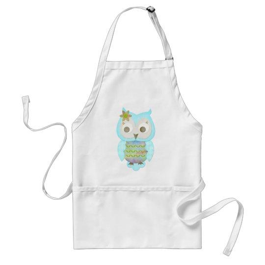Flower Gypsy Owl Adult Apron