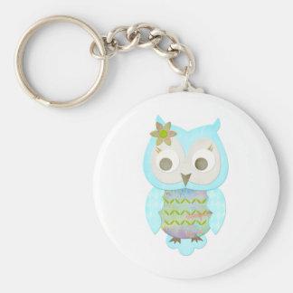 Flower Gypsy Owl Keychain