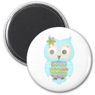 Flower Gypsy Owl Magnet