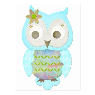Flower Gypsy Owl Post Card