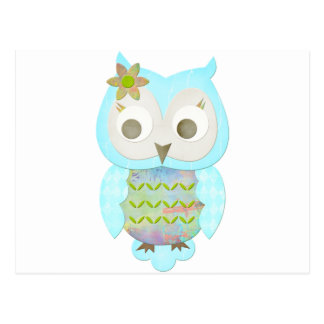 Flower Gypsy Owl Postcard