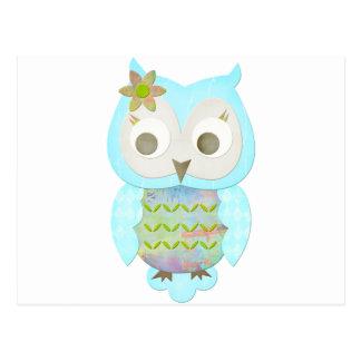 Flower Gypsy Owl Post Cards