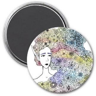 """""""Flower Hair"""" Magnet"""