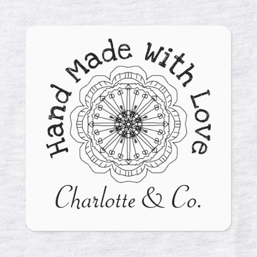 Flower Handmade With Love Product Personalized Labels
