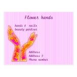 flower hands postcard