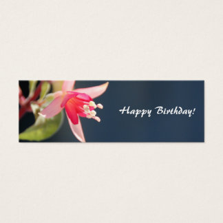 Flower Happy Birthday Gift Tag