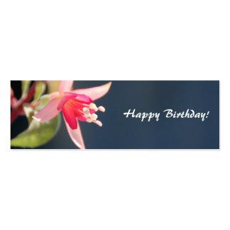 Flower Happy Birthday Gift Tag Mini Business Card