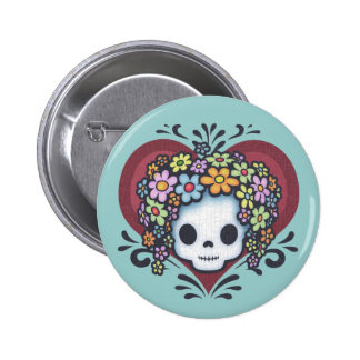 Flower Head Heart Jr. Pins