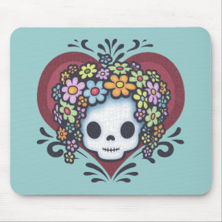 Flower Head Heart Jr. Mouse Pad
