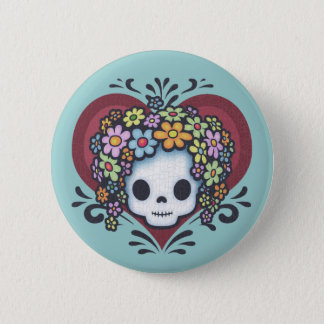 Flower Head Heart Jr. Pinback Button