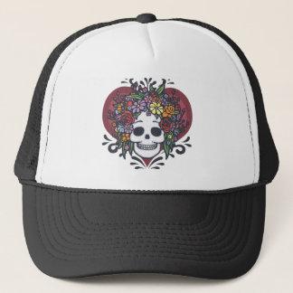 Flower Head Heart Trucker Hat