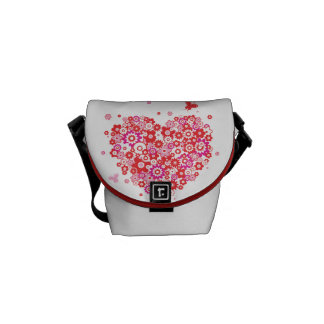 Flower Heart 1 Messenger Bags