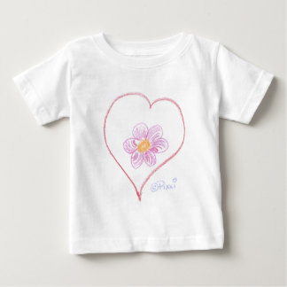 Flower Heart Baby T-Shirt