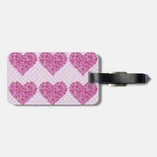 Flower Heart Bag Tag