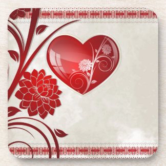 Flower Heart Drink Coaster