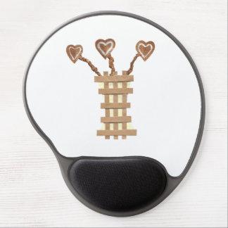 Flower Heart Gel Mousepad