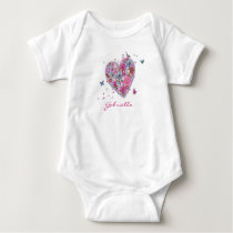 Flower Heart Girl t-shirt | bodysuit