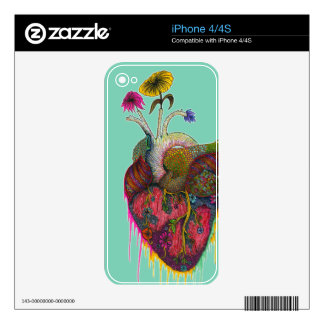 Flower Heart iPhone 4S Decal