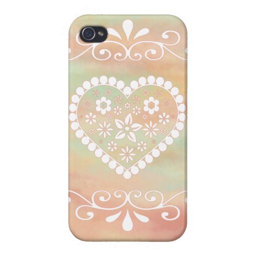 Flower Heart Case For iPhone 4