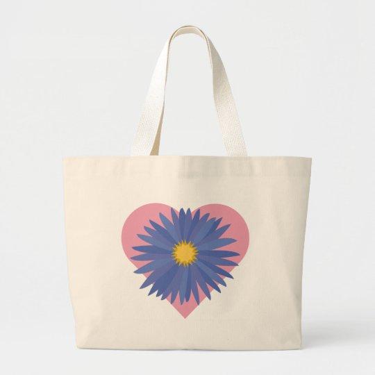 Flower Heart Large Tote Bag
