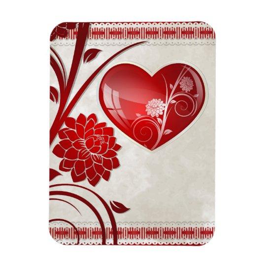 Flower Heart Magnet