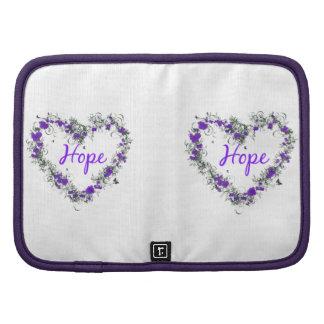 Flower Heart of Hope Folio Mini Organizer
