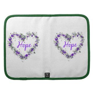 Flower Heart of Hope Smartphone Folio Folio Planners