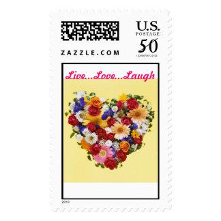Flower Heart Postage