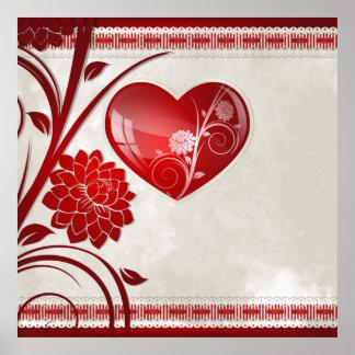 Flower Heart Print