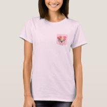 Flower Heart Ribbon T-Shirt