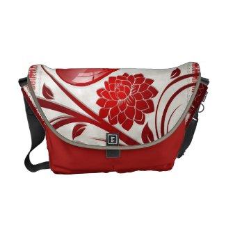 Flower Heart rickshawmessengerbag