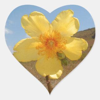 Flower heart shaped sticker