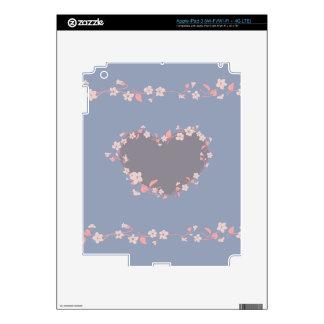 Flower Heart Skins For iPad 3