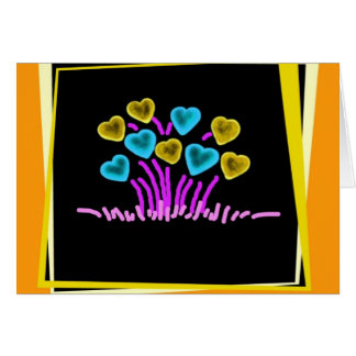 flower hearts cards