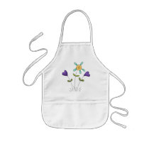 Flower Hearts Kids' Apron