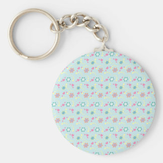 Flower Hearts + your name Keychain