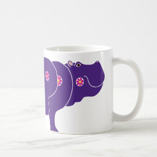 flower hippo coffee mug