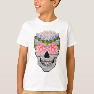 Flower Hipster Day of the Dead Skull T-Shirt