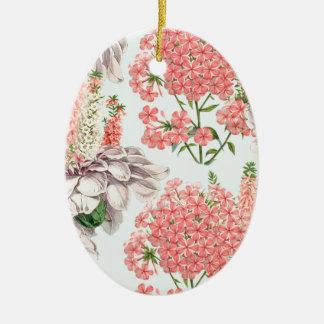 Flower, hortensias pink gardenias details celestia christmas tree ornament