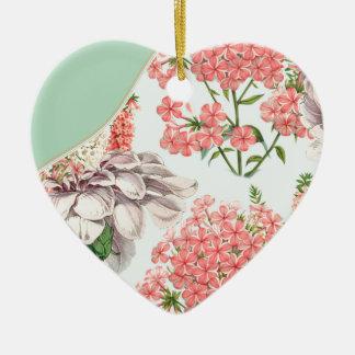 Flower, hortensias pink gardenias details celestia christmas ornament