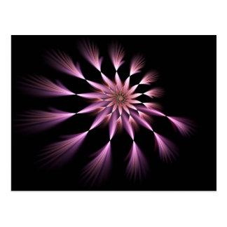 Flower I - Fractal Art Postcard