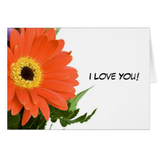 """Flower """"I Love You"""" Blank Note Card"""