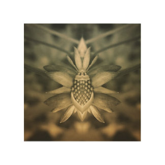 Flower Imagery Wood Wall Art