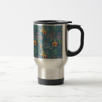 Flower in a pot travel mug