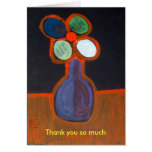flower in a vase, Thank you so much Greeting Cards