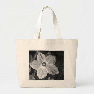 Flower in Black and White Tote Bag