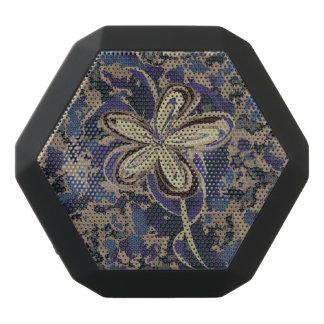 Flower in Camouflage Black Bluetooth Speaker