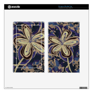 Flower in Camouflage Kindle Fire Skin