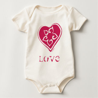 Flower in Heart Baby Bodysuit