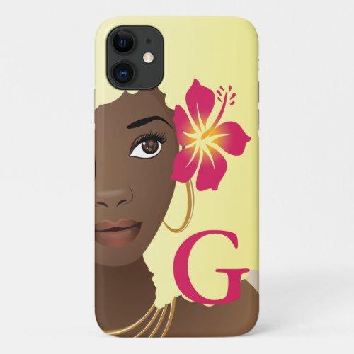 Flower in Her Blonde Hair, Monogram Phone Case